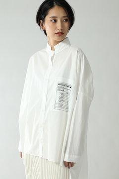 スタンドカラーオーバーシャツ