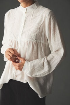 LACE STAND COLLAR SHIRTS BLOUSE