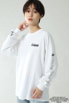 【ホワイト・ベージュカラーのみ先行予約 12月中旬-12月下旬入荷予定】【CREOLME別注】CasperロングTシャツ