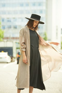 SHEER GOWN COAT