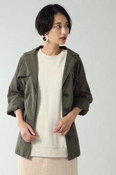 ベルト付きジャケットブルゾン