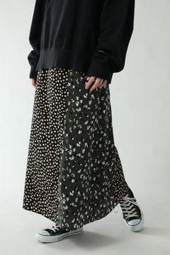 プリント切り替えナロースカート
