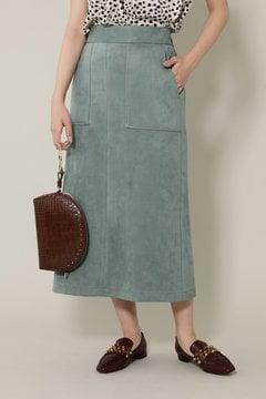 【グリーンカラーのみ先行予約 12月中旬-12月下旬入荷予定】ナローシルエットスカート