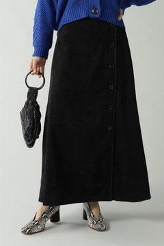 コーデュロイパイピングスカート