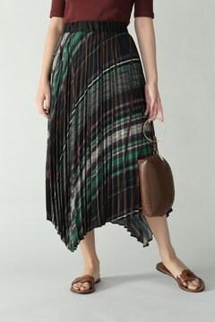 ランダムストライププリントスカート
