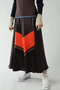 【先行予約 10月上旬-10月中旬入荷予定】バイカラースカート