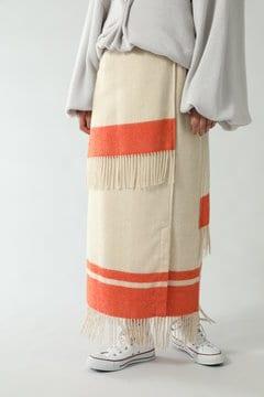 フリンジラップスカート