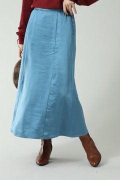 サテンナロースカート