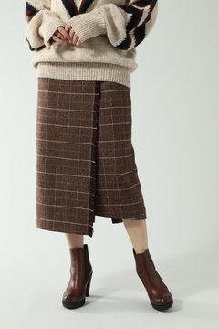 チェックラインスカート