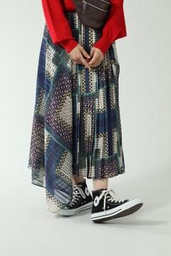 アシメトリープリーツスカート