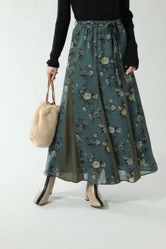 【先行予約 11月中旬-11月下旬入荷予定】フラワープリントロングスカート