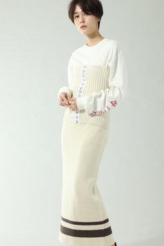 【先行予約 11月上旬-11月中旬入荷予定】ビスチェ付リブスカート