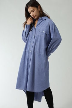 STRIPE BIG WORK SHIRTS ONE PIECE