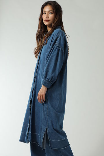 2WAY BIG SLEEVE & SHAPE DENIM ONE PIECE & COAT