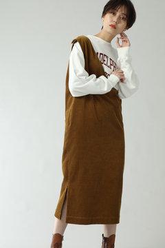 【UNIVERSAL OVERALL for ROSE BUD】コーデュロイジャンパースカート