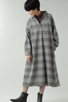 スキッパーシャツワンピース