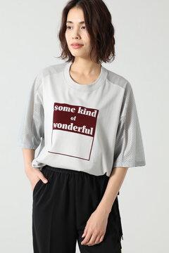 バックメッシュロゴTシャツ