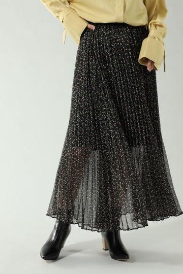 【先行予約 1月中旬-1月下旬入荷予定】<WEB限定>フラワープリントロングスカート
