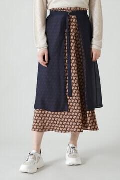 レイヤード2wayスカート
