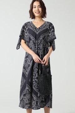 バンダナスカーフスリーブドレス