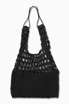 ポーチ付編みバッグ