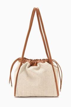 異素材コンビショルダーバッグ