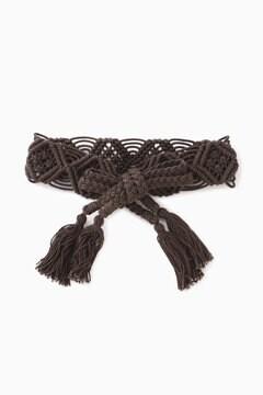 マクラメ編みベルト