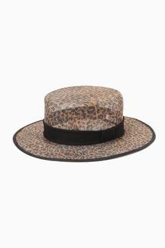 レオパード柄カンカン帽