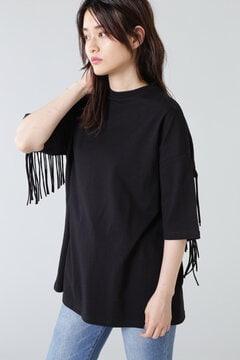 バックフリンジTシャツ