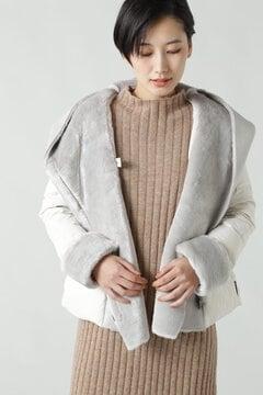 フェイクムートンフードジャケット