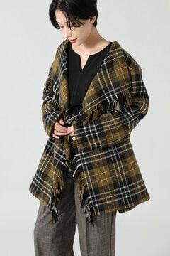 ミドル丈チェックコート
