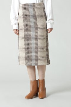 チェック柄ストレートスカート