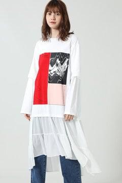 レイヤードグラフィックドレス