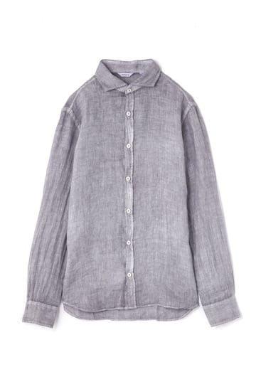 麻素材ロングスリーブシャツ