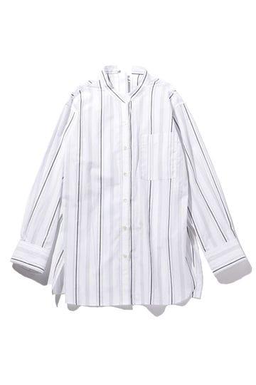 バックリボンデザインストライプ柄シャツ