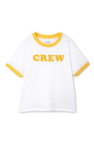 ロゴプリントリンガーTシャツ