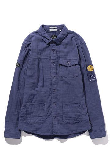 ワッペン付きシャツジャケット