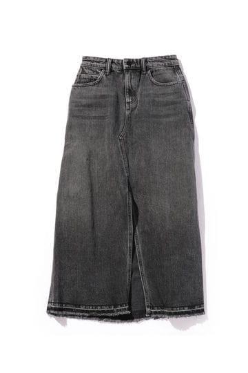 リメイク風ロングデニムスカート
