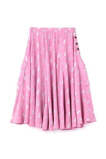 プリントギャザースカート
