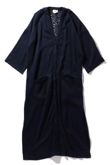 バックレースガウンシャツ