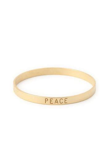 PEACEロゴブレスレット