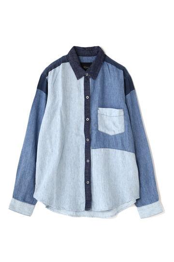 RAILS カラーブロックデニムシャツ
