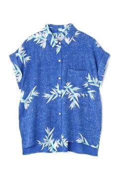 ボタニカル柄半袖シャツ