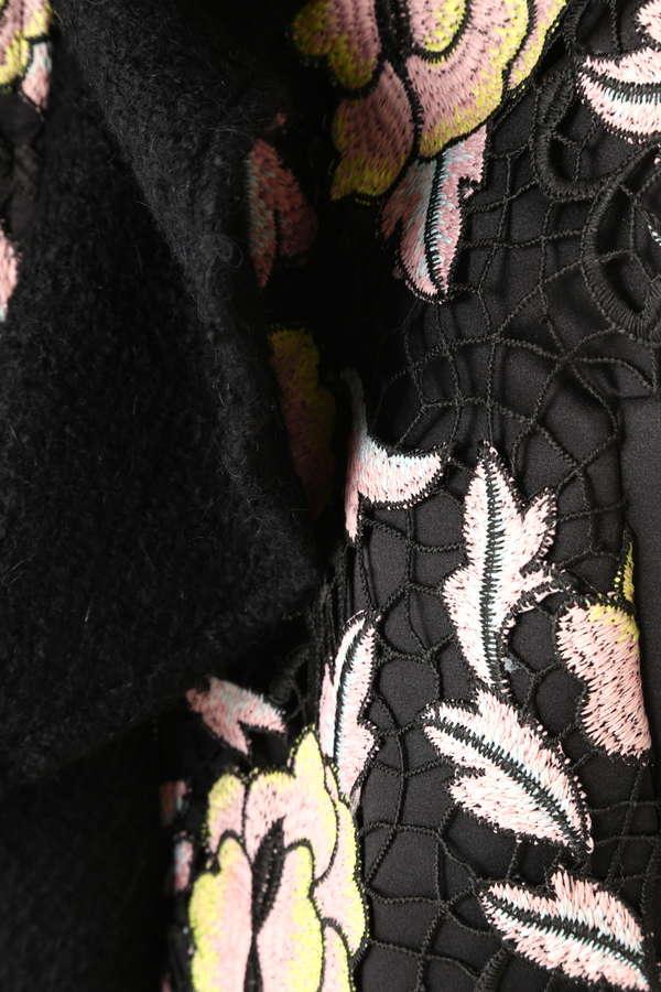 フラワー刺繍ブルゾンジャケット