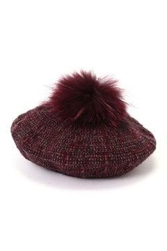 HATS & DREAMS ポンポン付ベレー帽