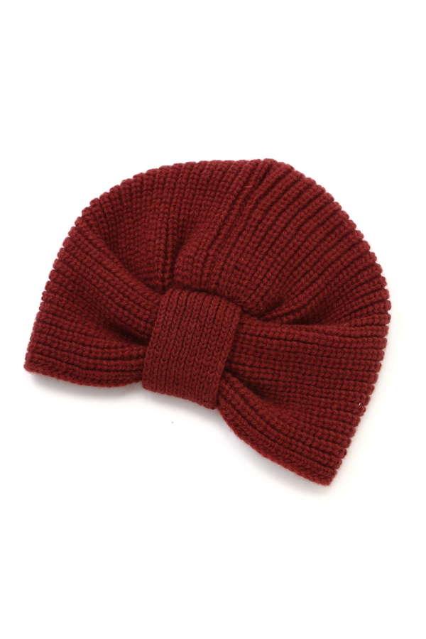 バックリボンニット帽