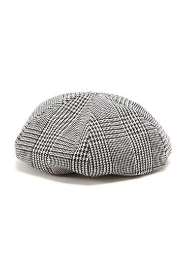 千鳥格子ベレー帽