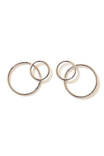 JUSTINE CLENQUET Lea earrings palladium