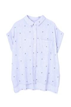 パームツリー×ストライプシャツ