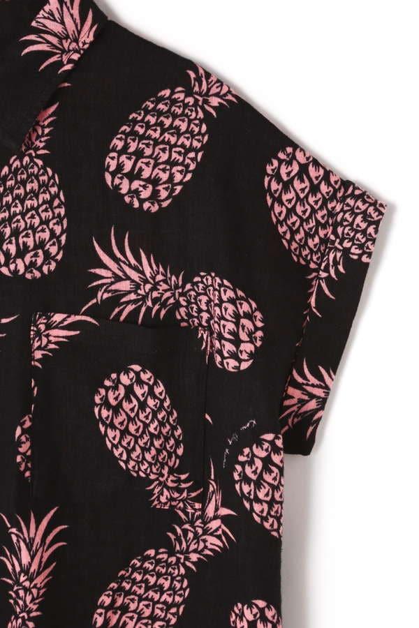 パイナップル柄開襟シャツ